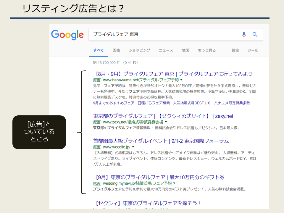 【ブライダル】リスティング広告とは?