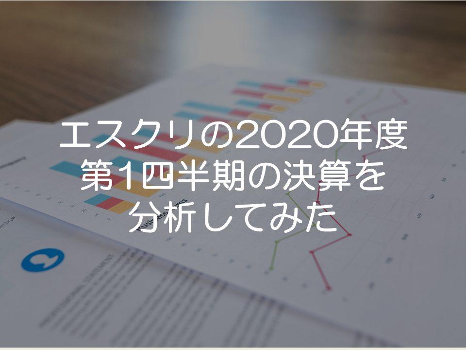 エスクリの2020年度第1四半期の決算分析
